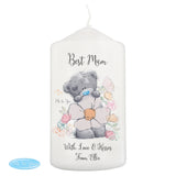 Personalised Me to You Floral Pillar Candle | Bits & Bobbets