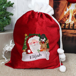 Personalised Christmas Santa Red Sack | Bits & Bobbets