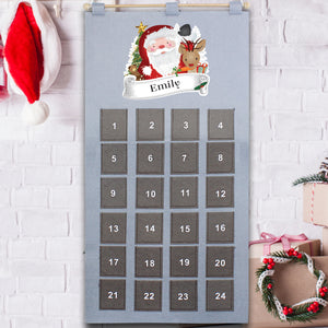 Personalised Santa Advent Calendar In Silver Grey | Bits & Bobbets