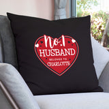 Personalised No.1 Belongs To Heart Cushion Cover | Bits & Bobbets