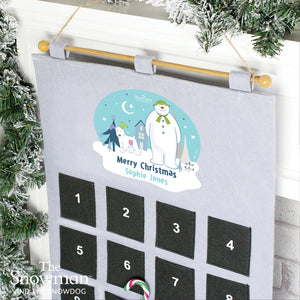 Personalised The Snowman and the Snowdog Advent Calendar In Silver Grey | Bits & Bobbets