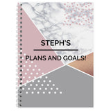 Personalised Geometric A5 Notebook | Bits & Bobbets