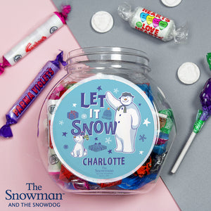 Personalised The Snowman and the Snowdog Sweet Jar | Bits & Bobbets