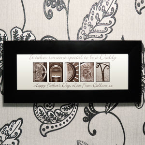 Personalised Affection Art Daddy Small Frame | Bits & Bobbets