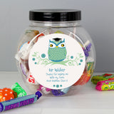 Personalised Mr Teacher Owl Sweet Jar | Bits & Bobbets