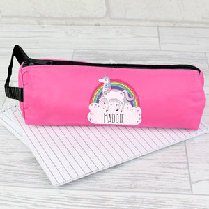 Personalised Unicorn Pink Pencil Case | Bits & Bobbets
