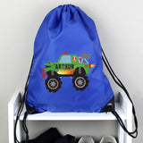Personalised Monster Truck Blue Kit Bag | Bits & Bobbets