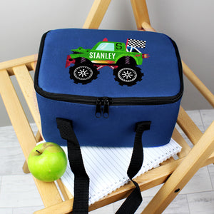Personalised Monster Truck Blue Lunch Bag | Bits & Bobbets
