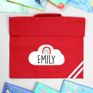 Personalised Rainbow Red Book Bag | Bits & Bobbets