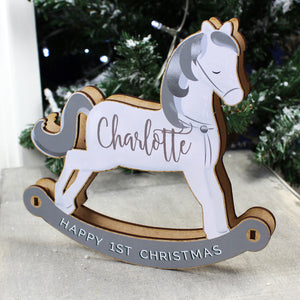 Personalised Make Your Own Rocking Horse 3D Decoration Kit | Bits & Bobbets