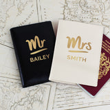 Personalised Mr & Mrs Passport Holders Set | Bits & Bobbets