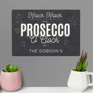 Personalised Prosecco Metal Sign | Bits & Bobbets