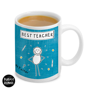 Personalised Purple Ronnie Male Teacher Mug | Bits & Bobbets
