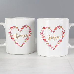 Personalised Confetti Hearts Wedding Mug Set | Bits & Bobbets