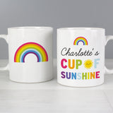 Personalised Rainbow Cup of Sunshine Mug | Bits & Bobbets