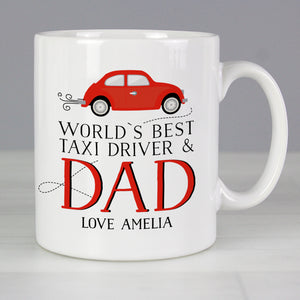Personalised Worlds Best Taxi Driver Dad Mug | Bits & Bobbets