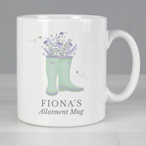Personalised Floral Wellies Mug | Bits & Bobbets