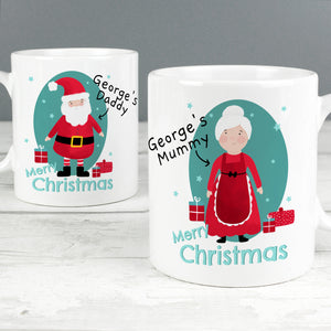 Personalised Mr & Mrs Claus Mug Set | Bits & Bobbets
