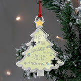 Personalised Tis' The Season To Be Jolly Tree Metal Decoration | Bits & Bobbets