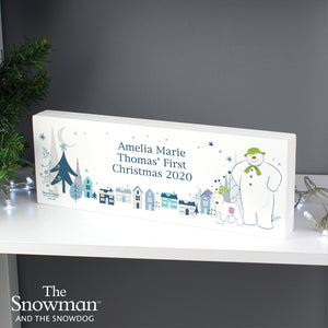 Personalised The Snowman and the Snowdog Wooden Block Sign | Bits & Bobbets