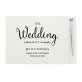 Personalised Rustic Wedding Hardback Guest Book & Pen | Bits & Bobbets