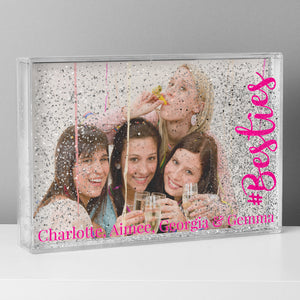Personalised #Besties 6x4 Glitter Shaker Photo Frame | Bits & Bobbets