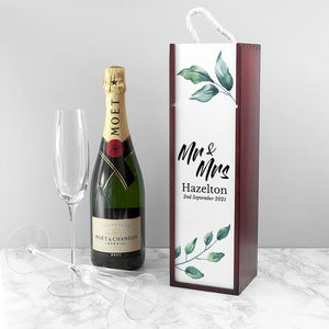 Personalised Couple's Wine Box | Bits & Bobbets
