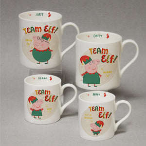Personalised Peppa Pig™ Team Elf Daddy Pig Balmoral Mug
