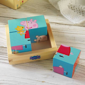Personalised Peppa Pig Puzzle Blocks | Bits & Bobbets