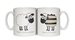 Personalised Baa Humbug Christmas Mug