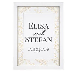 Personalised Gold Detail A4 Framed Print | Bits & Bobbets