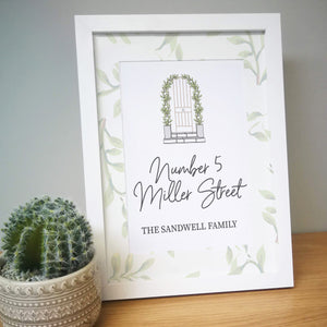 Personalised Home A4 Framed Print | Bits & Bobbets
