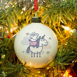 Personalised Peppa Pig™ Bauble | Bits & Bobbets