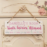 Personalised Tooth Fairy Hanging Sign | Bits & Bobbets