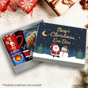 Personalised Christmas Eve Box - Santa and Snowman