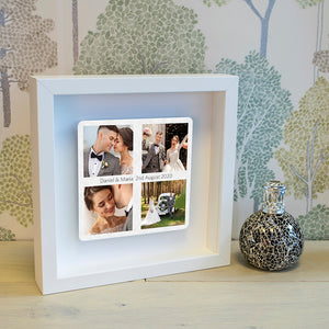 Personalised Favourite Photos Floating Metal Box Frame | Bits & Bobbets
