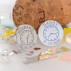 Husband and Daddy Time Cufflinks | Bits & Bobbets