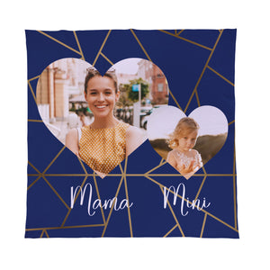 Mama Mini Navy - Photo - Fleece Throw