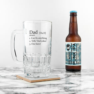 Personalised Dad Beer Tankard | Bits & Bobbets
