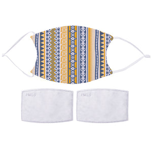 Printed Face Mask - Aztec Pattern Design | Bits & Bobbets