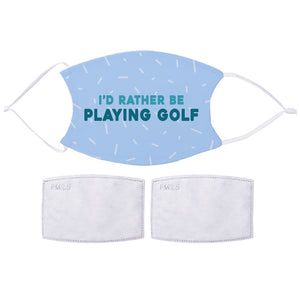 Printed Face Mask - Golf Fan Design | Bits & Bobbets