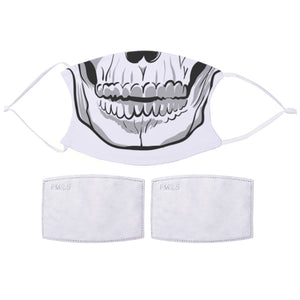 Printed Face Mask - Skull Mouth Design | Bits & Bobbets