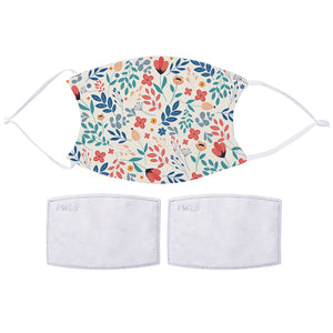 Printed Face Mask - Spring Flowers Design | Bits & Bobbets