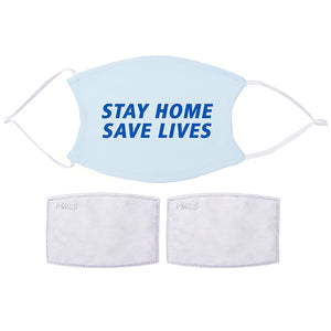 Printed Face Mask - Stay Home Design | Bits & Bobbets