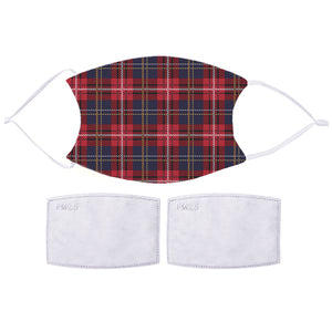 Printed Face Mask - Tartan Pattern Design | Bits & Bobbets