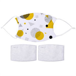 Yellow Geometric Shapes Face Mask | Bits & Bobbets