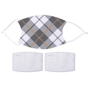 Grey Plaid Face Mask | Bits & Bobbets