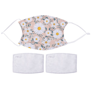 Printed Face Mask - Daisy Pattern Design | Bits & Bobbets