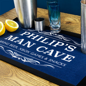 Personalised Man Cave Bar Mat | Bits & Bobbets