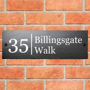 Rustic Slate House Sign 45cm 15cm